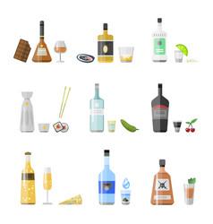 alcohol drinks beverages cocktail appetizer bottle vector image