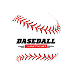 Baseball ball on white background vector