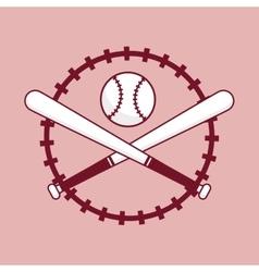 Baseball bat ball vector