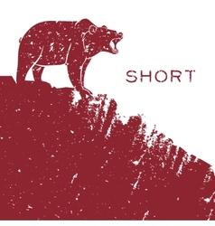 Bear short selling vector image