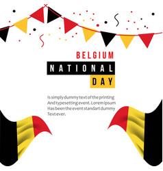 Belgium national day template design vector