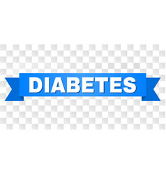 Blue ribbon with diabetes text vector