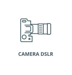 Camera dslr top view line icon camera vector