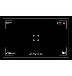 Camera viewfinder user interface vector image