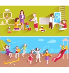Children In Kindergarten vector image