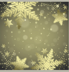 Christmas snowflakes and snowdrift vector