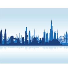 cityscape blue flat vector image