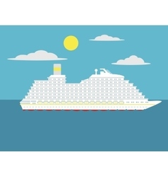 Cruise passenger ship cartoon vector