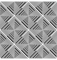 Design seamless monochrome rhombus stripy pattern vector