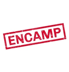 Encamp rubber stamp vector