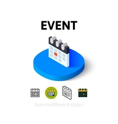 Event icon in different style vector