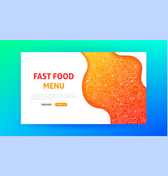 Fast food landing page vector