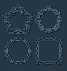 Frame borders set vector