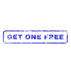 Get one free rubber stamp vector