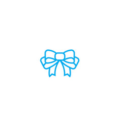 gift bow thin line stroke icon gift bow vector image