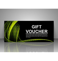 Gift voucher technology template vector