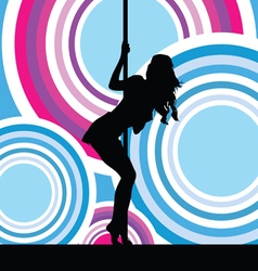 girl sexy in colorful vector image vector image