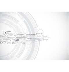 grey abstract circuit technology vector image