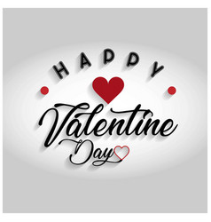 happy valentines day with grey background vector image