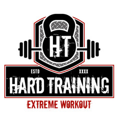hard training vector image