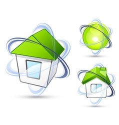 Houses with orbit rings vector