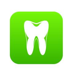 human tooth icon digital green vector image