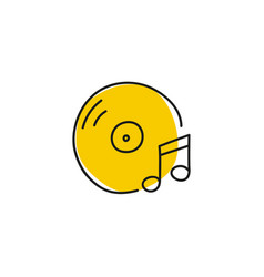 icon with vinyl record vector image