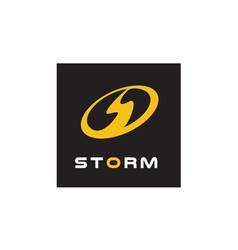 Initial letter s storm power bolt flash logo vector