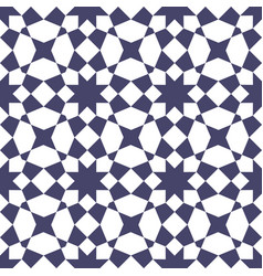 Islamic mosaic seamless geometric pattern vector