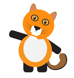 Isolated cute cat vector