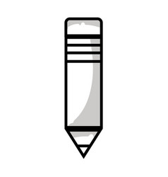 Line pencil school tool to writing and learn vector