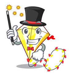 Magician kite with on clouds shape character vector