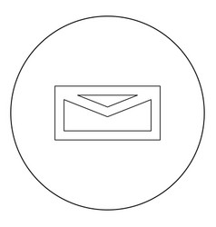mail black icon in circle isolated vector image