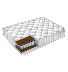 Mattress cut out mockup realistic style vector