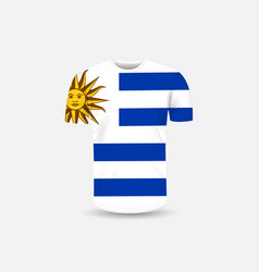 mens t-shirt icon and uruguay flag vector image