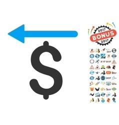 Moneyback Icon With 2017 Year Bonus Symbols vector