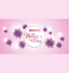 Mothers day card floral vector