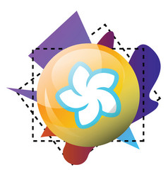 multicolor icon a blendr platform on a white vector image