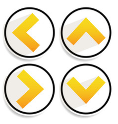 Orange yellow arrows arrowheads pointing up down vector