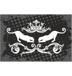 Panther frame with crown vector image