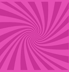 pink spiral ray background - graphic design vector image