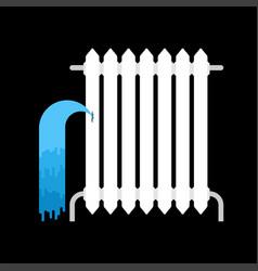 Radiator water leakage water leak broken radiator vector