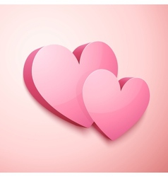 Realistic pastel Valentines hearts vector