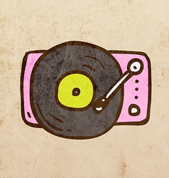 Record Player Cartoon vector image