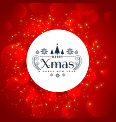 Red christmas holidays background with sparkles vector