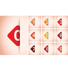 red option square background vector image