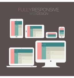 Responsive webdesign technology page design vector image