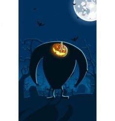 scary Jack-o-lantern vector image