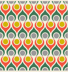 Seamless abstract midcentury modern pattern vector