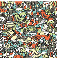 seamless pattern for summer time theme vector image